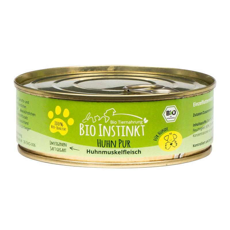 Organic-Animal-Foods-BioInstinkt-Tiernahrung-verpackt-für-Hunde-huhn-pur-huhnmuskelfleisch-im-eigenen-saft-gegart-dose