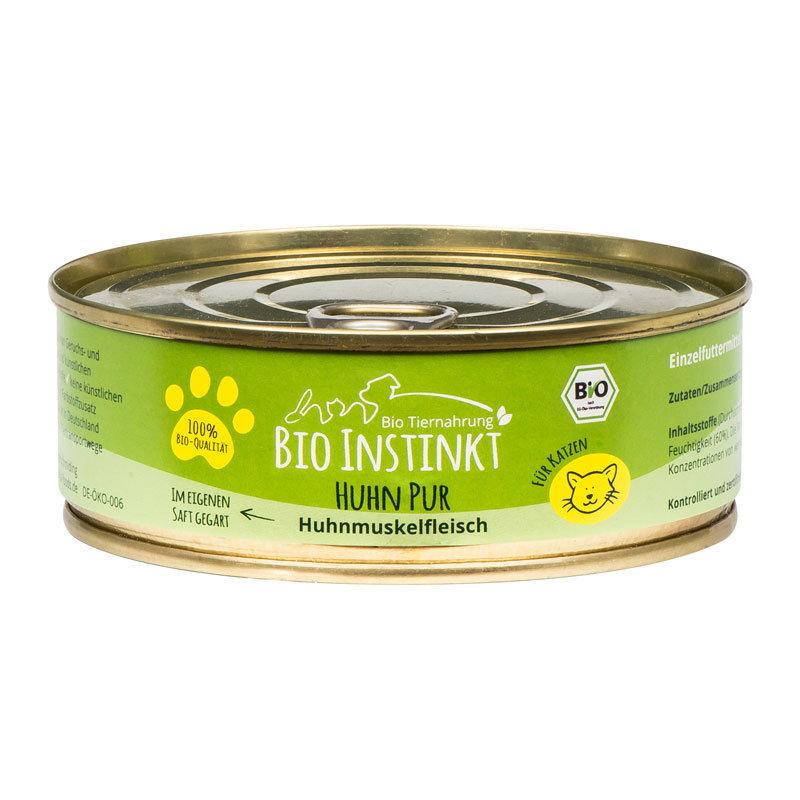 Organic-Animal-Foods-BioInstinkt-Tiernahrung-verpackt-für-Katzen-huhn-pur-huhnmuskelfleisch-im-eigenen-saft-gegart-dose