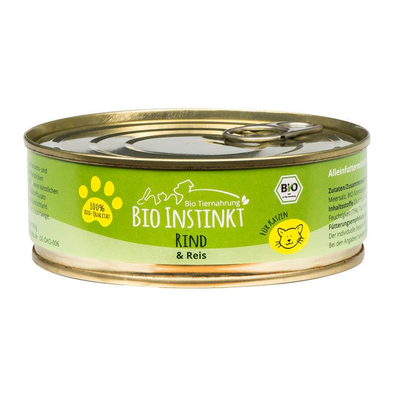 Organic-Animal-Foods-BioInstinkt-Tiernahrung-verpackt-für-Katzen-rind-reis-dose