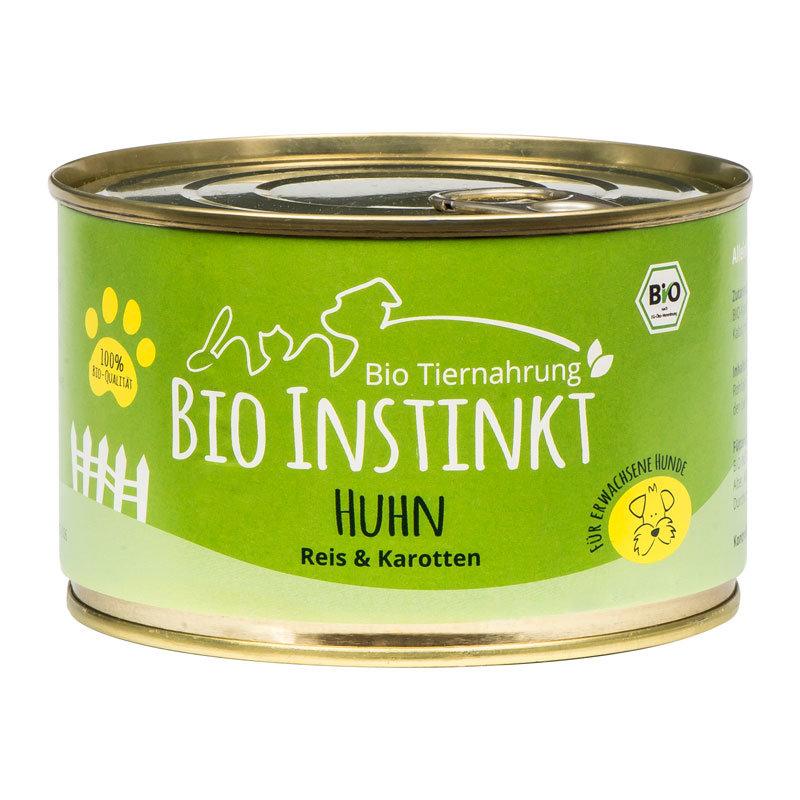 Bio Hundefutter mit Huhn und Reis Dose