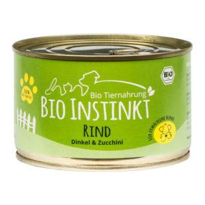 Bio Hundefutter Rind Dinkel und Zucchini