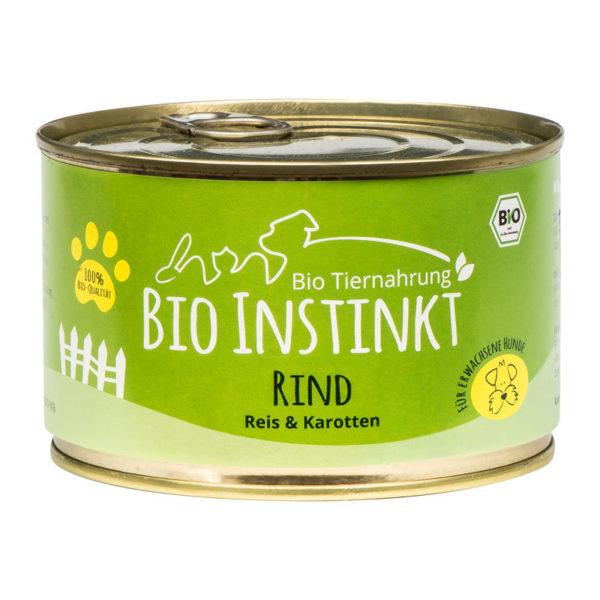 Bio Hundefutter Rind Reis und Karotten