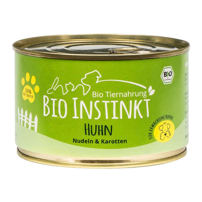 Bio Hundefutter mit Huhn und Nudeln Dose
