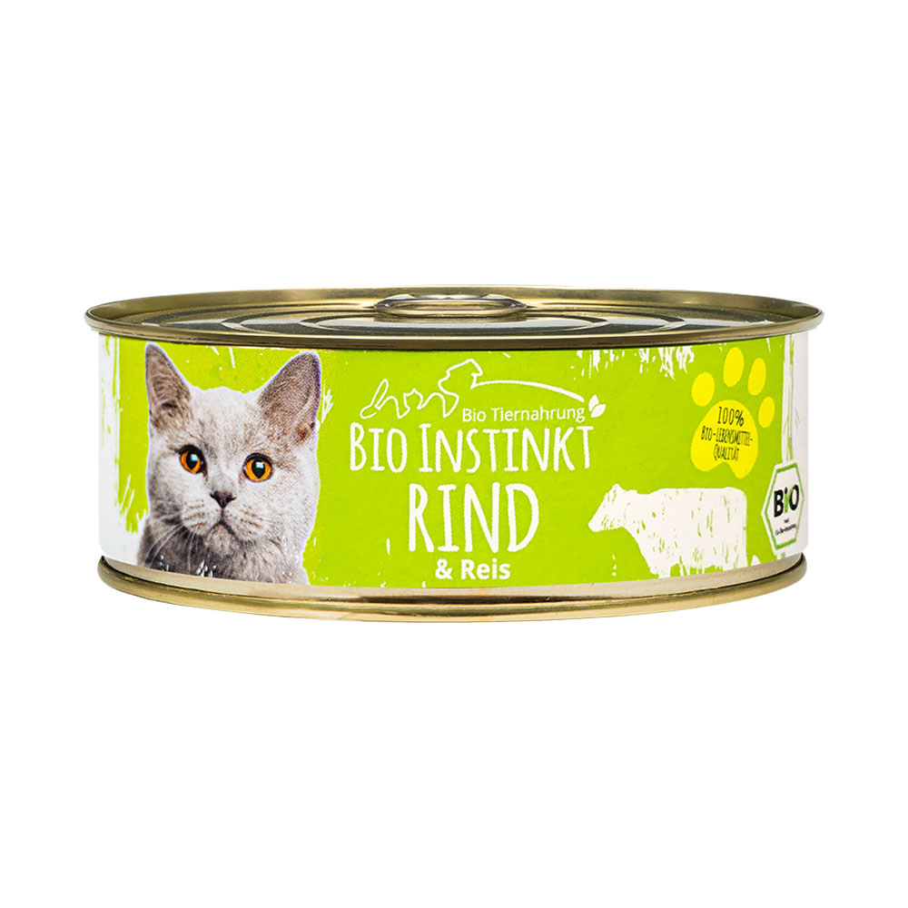 Bio Katzenfutter 200g in der Dose